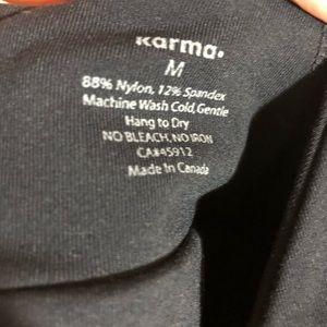 Karma Tops - Karma Black Workout Tank Top Size M